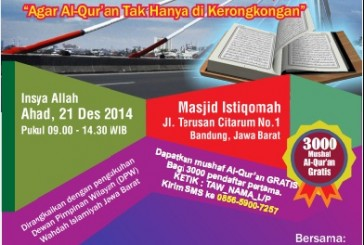 Wahdah Bandung menggelar Tabligh Akbar dan Wakaf 3000 Mushaf Al-Quran