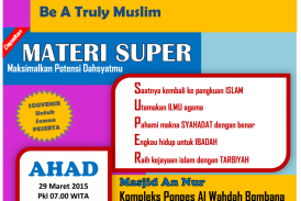 """HADIRILAH """"TRAINING SUPER MUSLIM"""""""