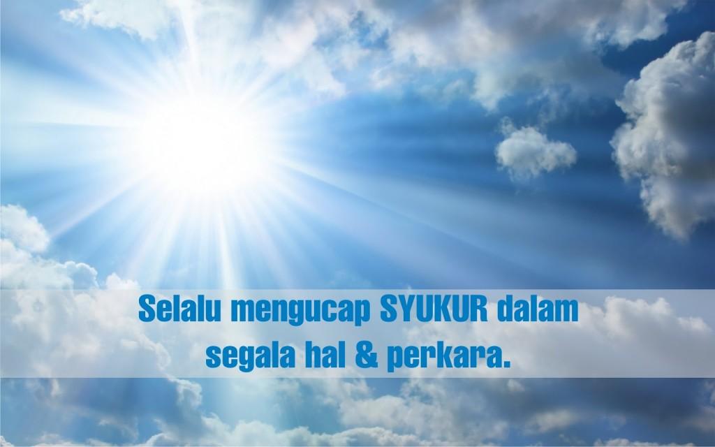 1 Keajaiban Syukur